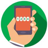 El beneficiario recibe los datos de la orden por SMS