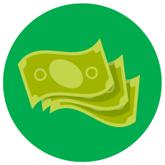 El beneficiario va al cajero y recoge el dinero