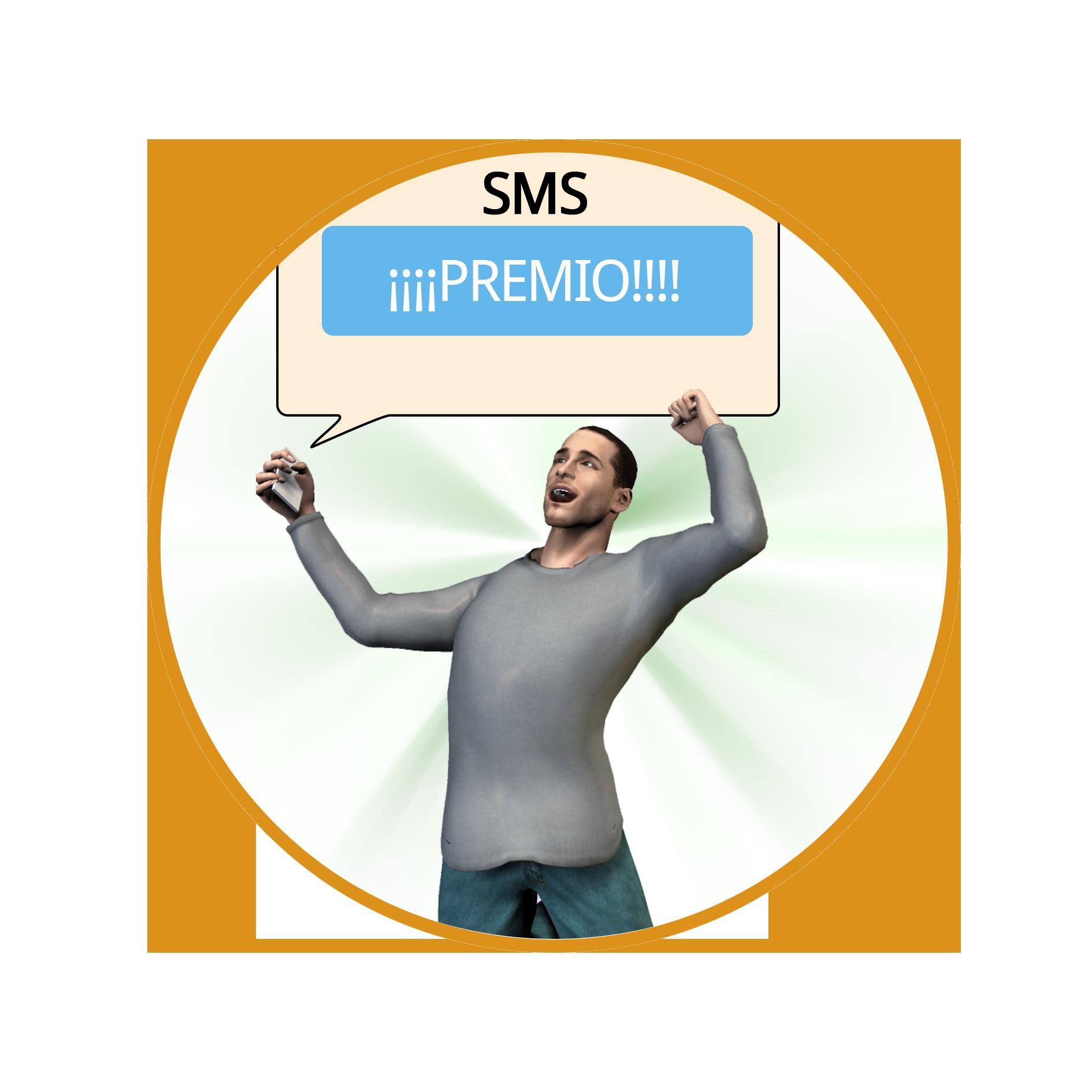 Si resulta ganador, el usuario recibe un SMS que le informa de su premio